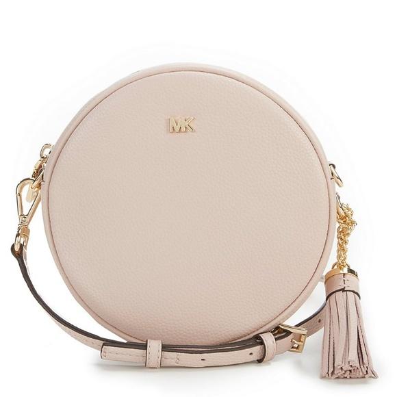 6cf61780ae45 Michael Kors Bags | Nwt Leather Round Bag Soft Pink | Poshmark